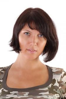 Portret de jovem mulher bonita