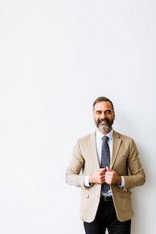 Portret do empresário de meia idade bonito barbudo