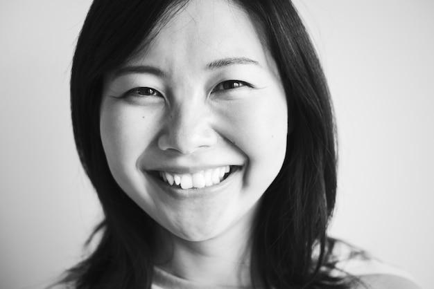 Portriat de uma mulher asiática