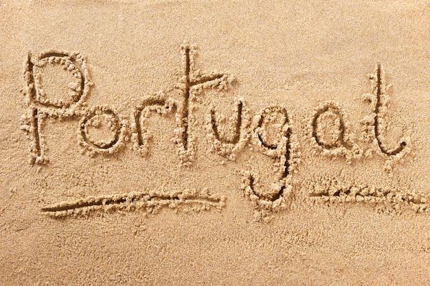 Portugal algarve praia areia sinal