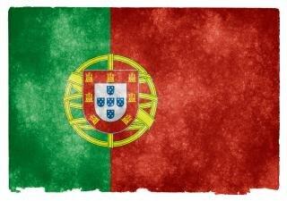 Portugal pergaminho bandeira do grunge