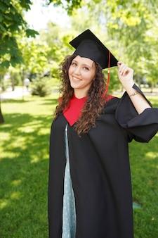 Pós-graduação bastante recente ao ar livre perto da universidade