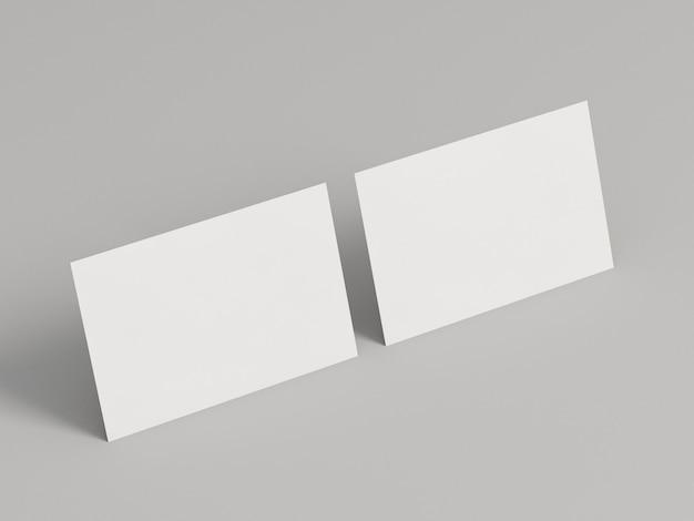 Posição horizontal dos cartões de visita