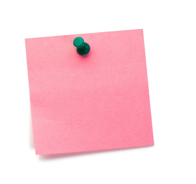 Post-it rosa com pino de desenho