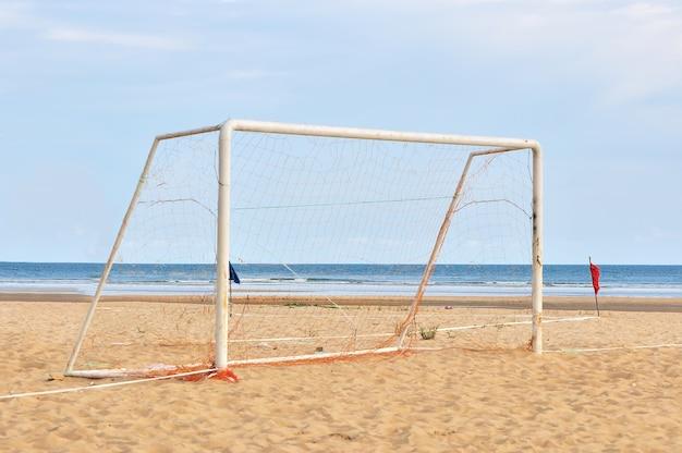 Poste do gol na praia