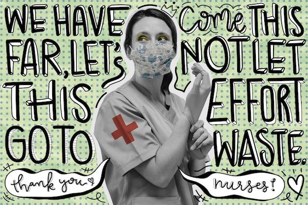 Pôster de conscientização sobre o coronavírus