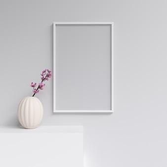 Poster mockup frame mockup decoração de interiores