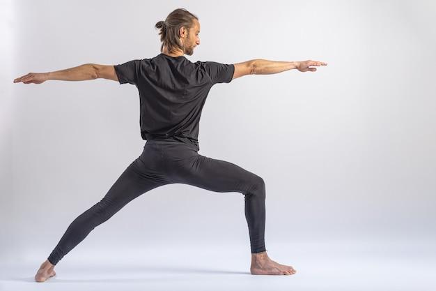 Postura do guerreiro b yoga postura asana