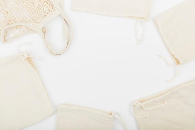 Postura plana de sacos reutilizáveis