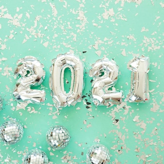 Postura plana do belo conceito de ano novo