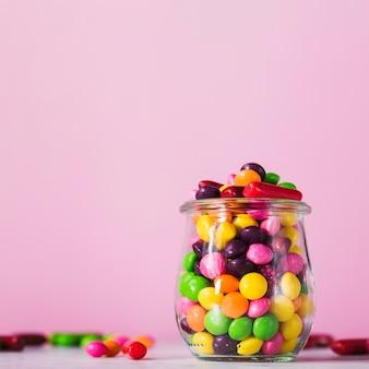 Pot com doces saborosos