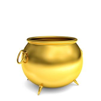 Pote 3d dourado