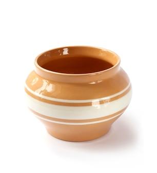 Pote de cerâmica vitrificada isolado
