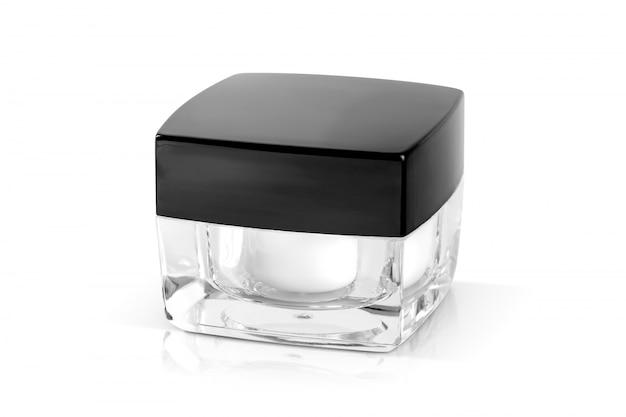 Pote de creme de embalagem de cosméticos para mock-up de design de produto