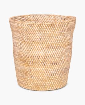 Pote de planta de casa ecologicamente correto com cesta tecida