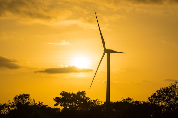 Potência da turbina eólica