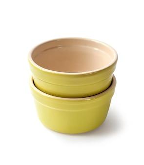 Potes de cerâmica vitrificada