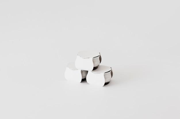 Potes de papelão para laticínios