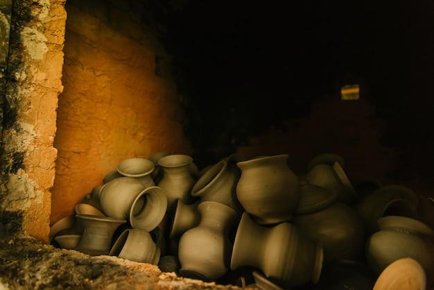 Potteries no forno