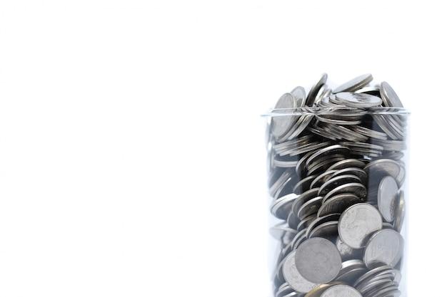 Poupar dinheiro em vidro para o seu investimento futuro