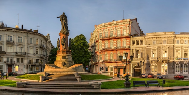 Praça de catarina e hotel paris em odessa
