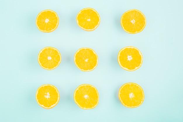 Praça de limão vista superior