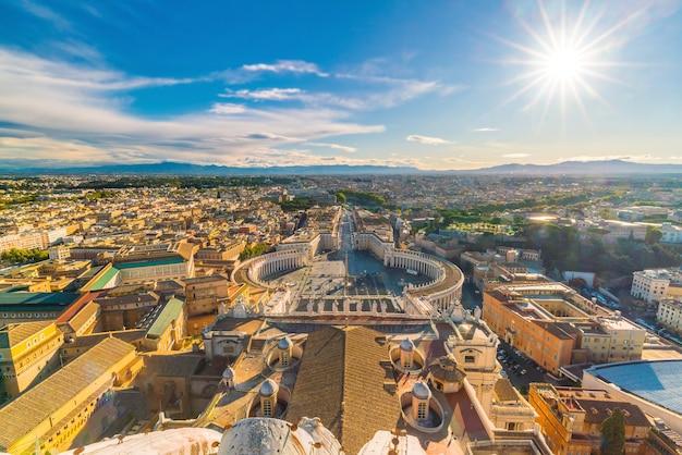 Praça de são pedro no vaticano, roma vista de cima
