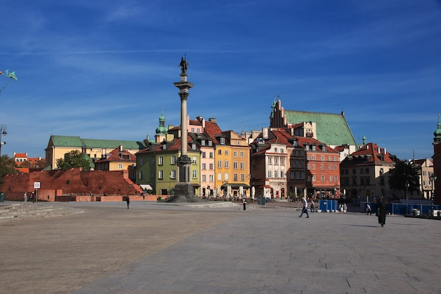 Praça do palácio de varsóvia, polônia