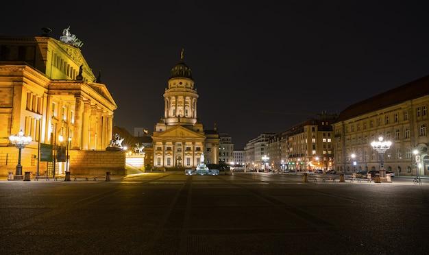 Praça gendarmenmarkt, berlim, alemanha