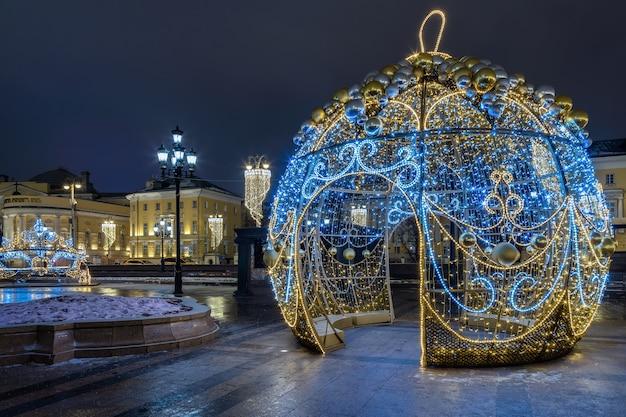 Praça manezhnaya no inverno moscou rússia