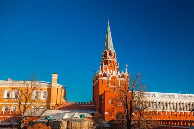 Praça vermelha no inverno