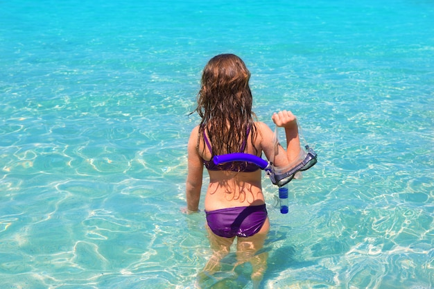 Praia aqua em ibiza formentera rear kid girl