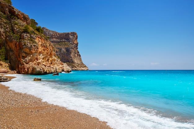 Praia de cala del moraig benitachell alicante