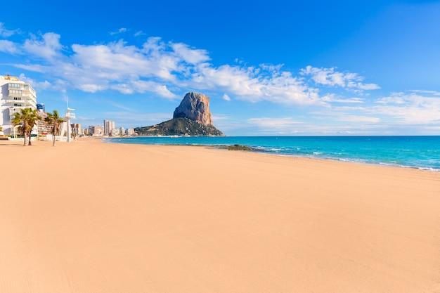 Praia de calpe playa arenal bol perto de penon ifach alicante
