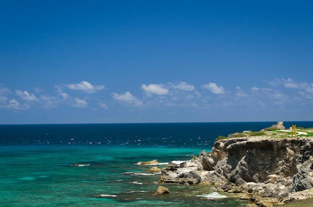 Praia de cancún, méxico, caribe.