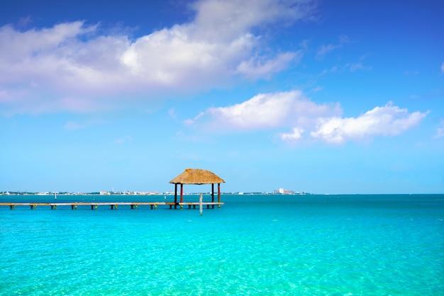 Praia de cancun playa linda na zona hoteleira