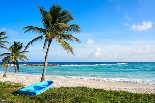 Praia de chen rio, ilha de cozumel, no méxico