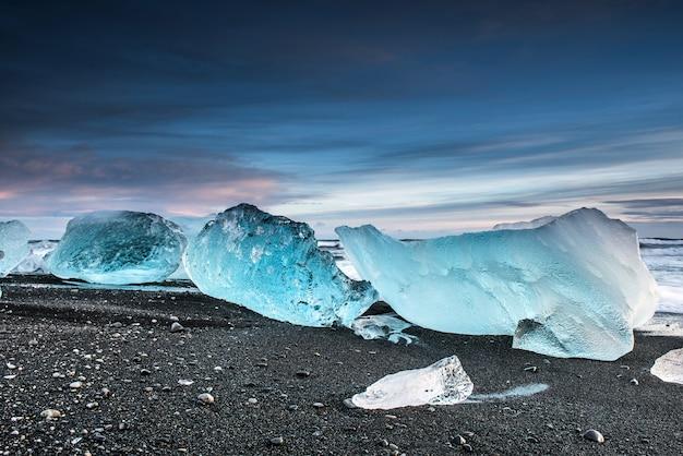 Praia de diamante na islândia