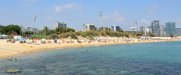 Praia de el bogatell, barcelona, catalunha, espanha