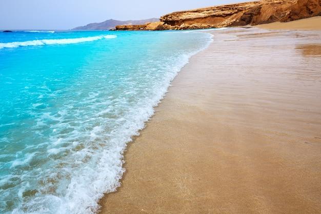 Praia de fuerteventura la pared nas ilhas canárias
