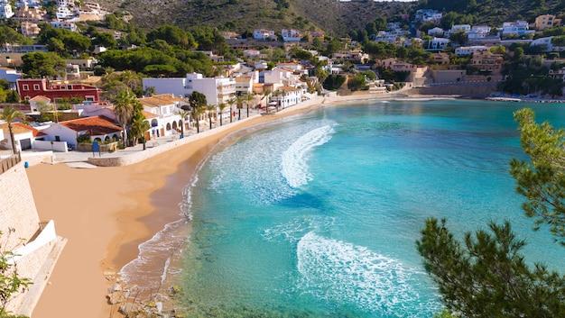 Praia de moraira playa el portet no mediterrâneo alicante