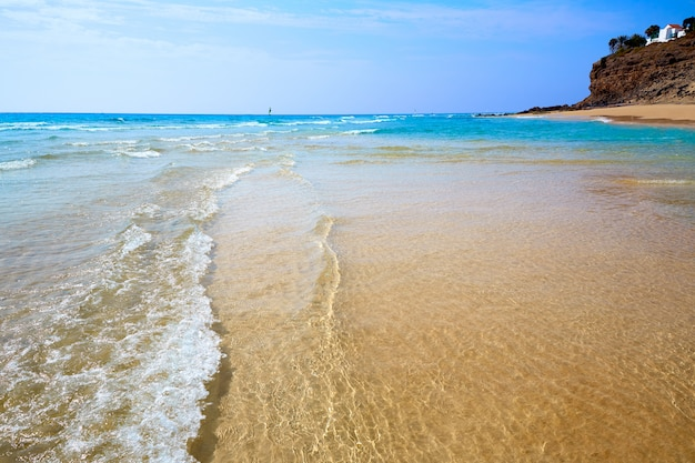 Praia de morro jable fuerteventura canárias