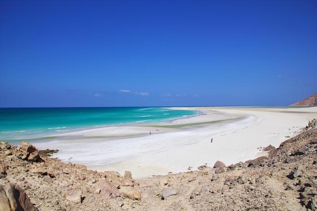 Praia de qalansiyah, socotra no iêmen