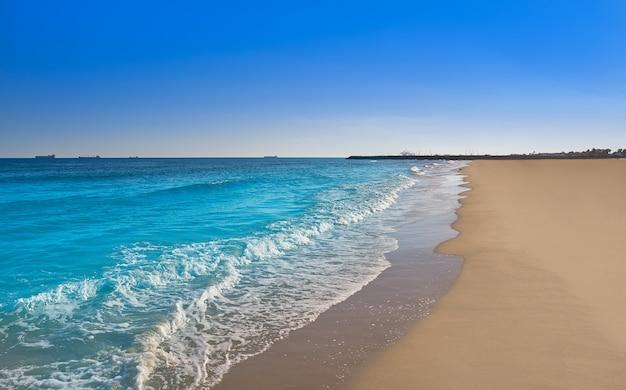 Praia de serradal em grao de castellon a espanha