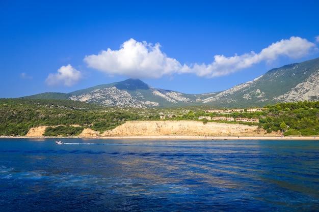 Praia de sos dorroles no golfe de orosei, sardenha, itália