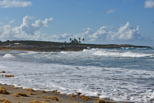 Praia deserta do oceano atlântico