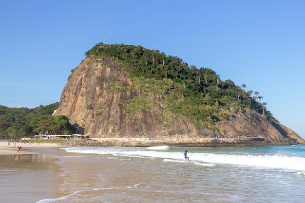 Praia do leme no rio de janeiro, brasil