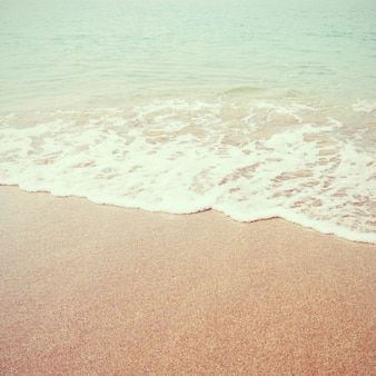 Praia do mar com efeito de filtro retrô