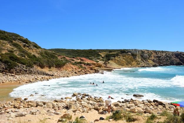 Praia do zavial, vila do bispo, algarve, portugal