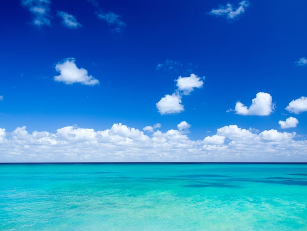 Praia e mar tropical. fundo da natureza